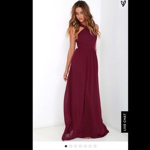 Dresses & Skirts - AIR OF ROMANCE BURGUNDY MAXI DRESS LULUS SIZE S